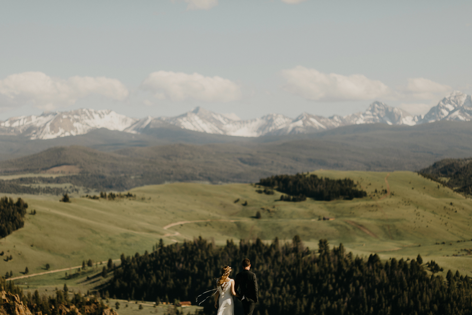 montana wedding portrait