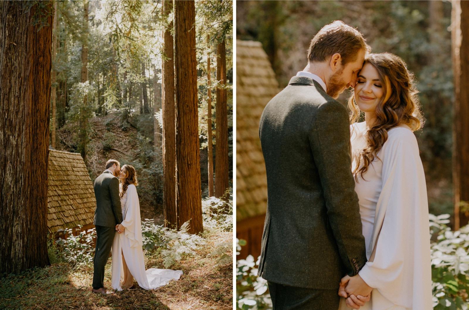 033_Emily & Jeff Wedding 0238_Emily & Jeff Wedding 0237_portrait_outdoor_forest_ben-lomond_wedding_intimate
