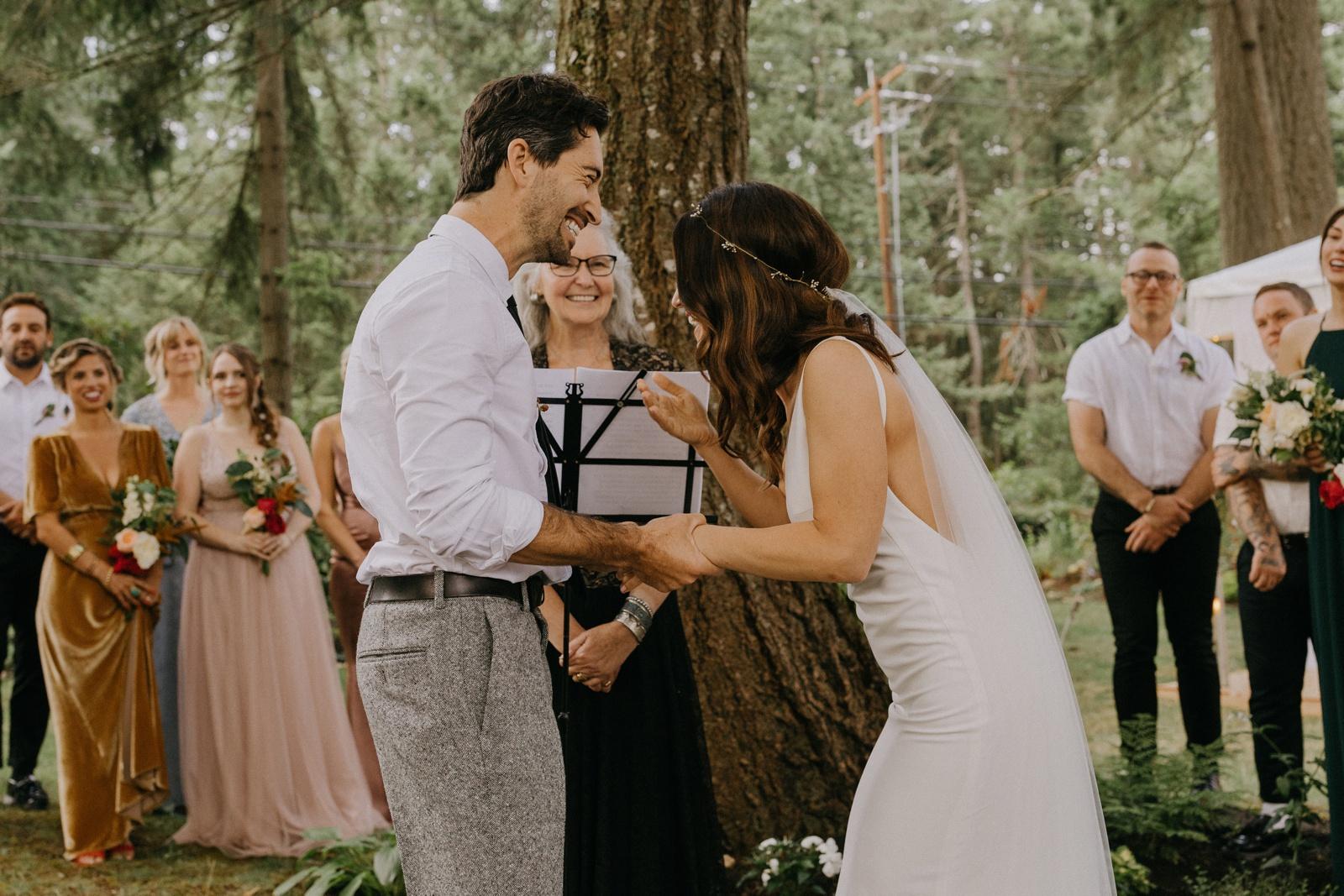 Matthew and Autumn Intimate Outdoor Backyard Wedding_0155