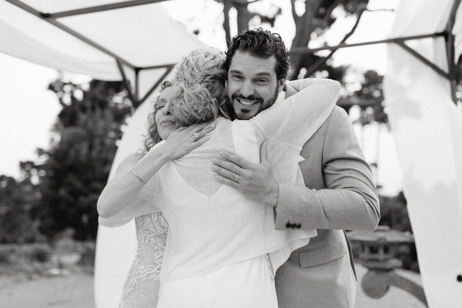 outdoor intimate wedding ceremony